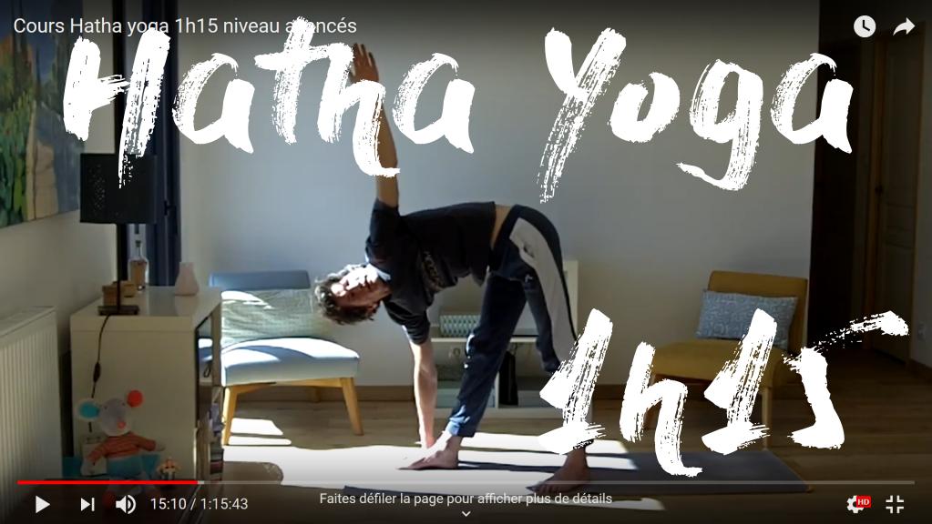 hatha yoga 1h15 avancés