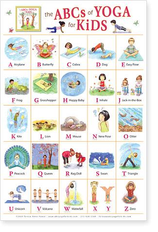 poster de yoga pour enfants  mon coach lagom